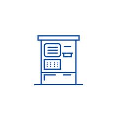 atm machine line icon concept atm machine flat vector image