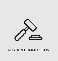 Auction hummer icon vector