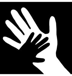Baby hand in adult hand vector