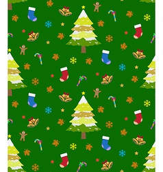 Background christmas seamless vector image