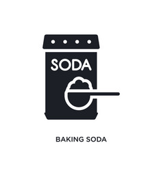 Baking soda isolated icon simple element from vector