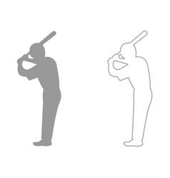 Ballplayer set icon vector