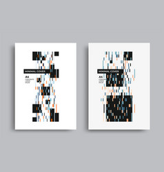 Bauhaus graphic design poster with line and square vector