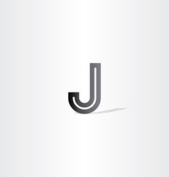 Black letter j logo design element vector
