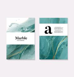 Boho aqua menthe 2020 design marble liquid flow vector