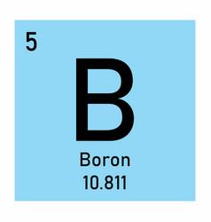 Boron icon vector