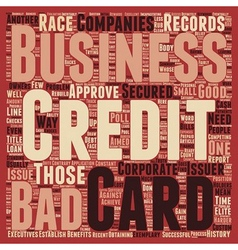 Business Credit Cards for Those With Bad Credit vector image
