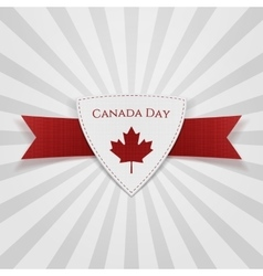 Canada Day festive red Badge vector image