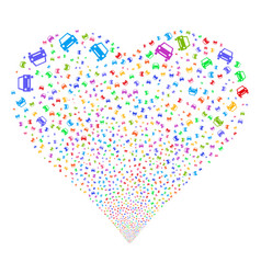 car fireworks heart vector image