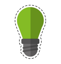 Cartoon bulb lamp light environment vector