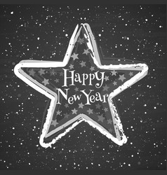 chalk star on blackboard background greeting vector image