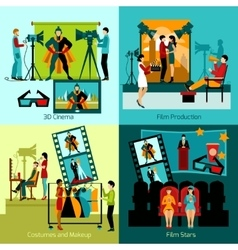 Cinema People Set vector