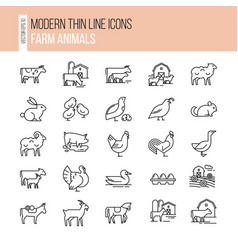 Collection in line style well vector