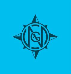 Compass logo design modern minimalist vector