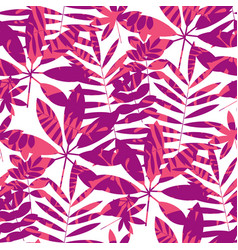 concept tropical leaves seamless pattern vector image