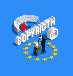 copyright european regulation vector image