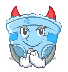 devil baby diaper character cartoon vector image