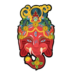 Face for ganesh vector