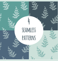 fern seamless pattern set vector image
