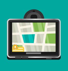 flat gps navigation vector image