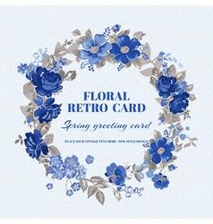 floral shabchic card - vintage design vector image