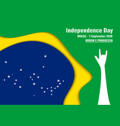 for brazil independence day on 7 september for vector image