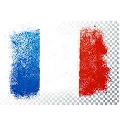 france flag texture on transparent background vector image