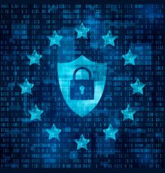 general data protection regulation - gdpr shild vector image