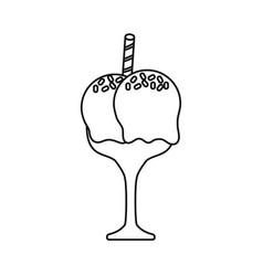 glass ice cream vector image vector image