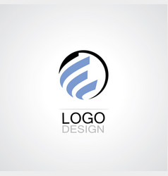 Globe abstract techno logo vector