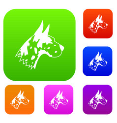 Great dane dog set collection vector