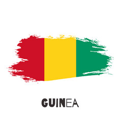 guinea watercolor national country flag icon vector image
