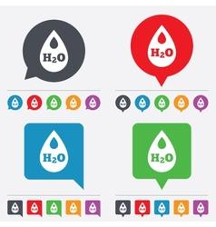 H2O Water drop sign icon Tear symbol vector image