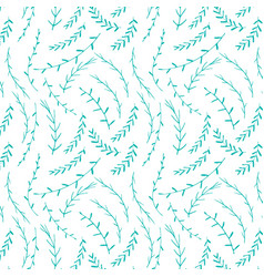 Hand drawn botanical pattern background floral vector