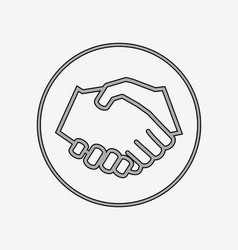 Handshake solid icon vector