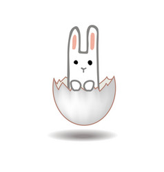 happy easter card design sweet bunny inside vector image