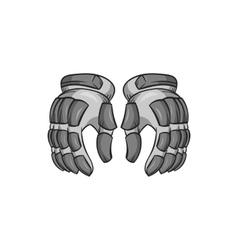 Hockey gloves icon black monochrome style vector image
