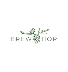 hop brew logo icon vector image