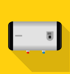 horizontal boiler icon flat style vector image