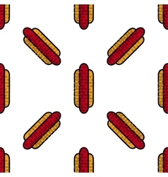 Hot Dog flat pattern vector