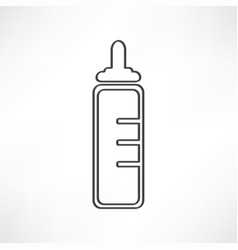 icon baby bottle vector image