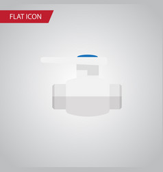 Isolated pump valve flat icon flange vector