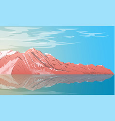 landscape with mountain 2 vector image