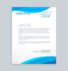 Letterhead brochure design template vector