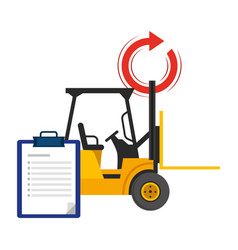 lift truck and checklist vector image