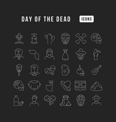 line icons day dead vector image