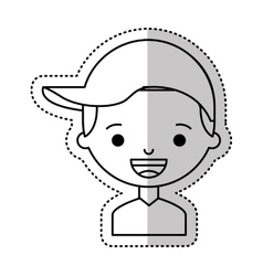 little boy character icon vector image