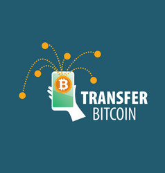 logo bitcoin money transfer vector image