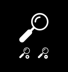 Magnifying glass zoom in zoom out icons vector
