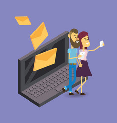 mail storage cartoon vector image